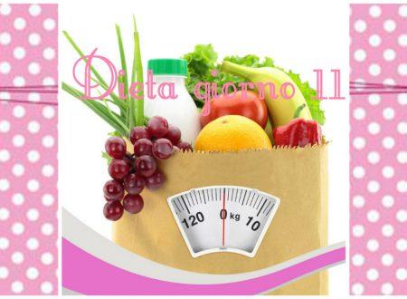 La mia dieta facile diario giorno 11- stile di vita sano