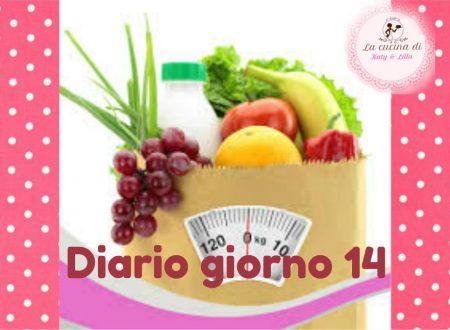 La mia dieta facile diario giorno 14- stile di vita sano – Pesata