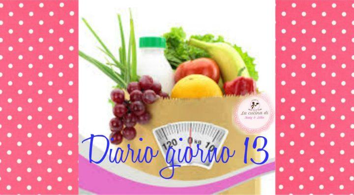 dieta facile diario giorno 13