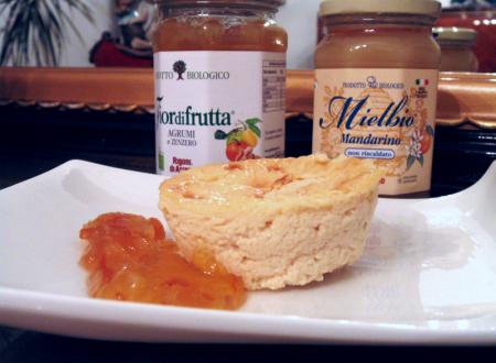 Tortini di ricotta e miele al mandarino
