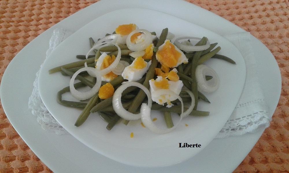 Insalata di fagiolini e uova sode