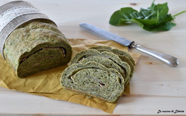 Plumcake salato con spinaci