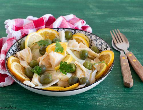 Baccalà in insalata con finocchi