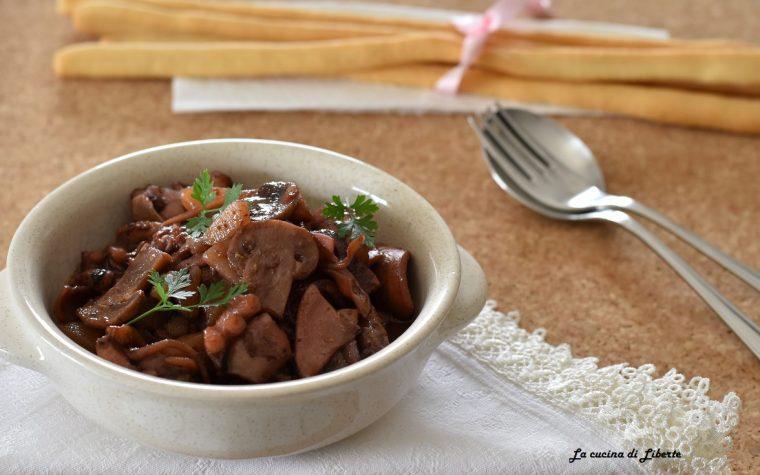 Moscardini in umido con totani e patate