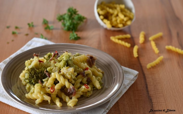 Pasta con baccalà e broccoli calabresi
