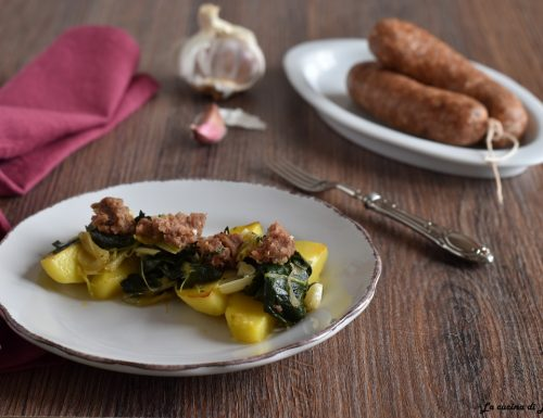 Bieta e patate con cotechino sbriciolato