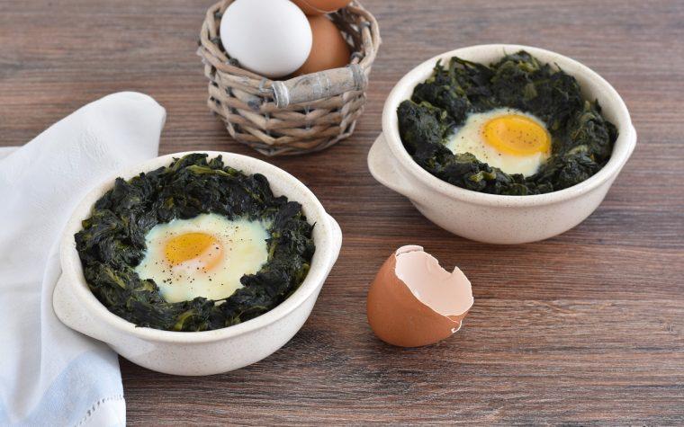 Spinaci e uova al forno