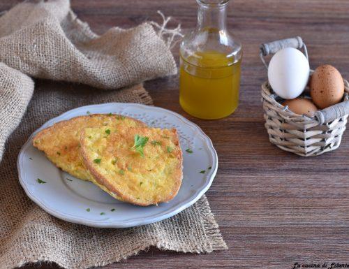 Pane fritto con uova e formaggio