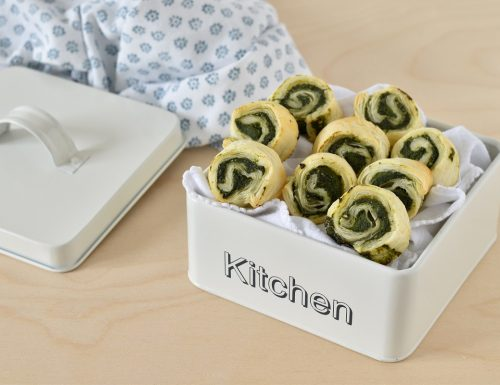 Girelle salate con spinaci
