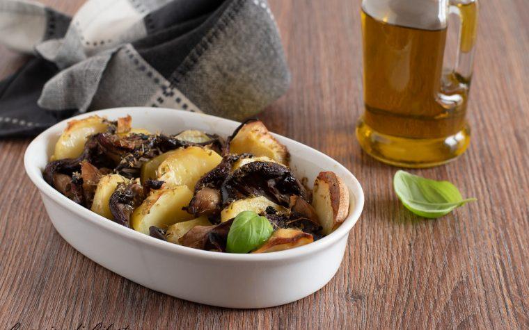 Funghi pleurotus al forno con patate