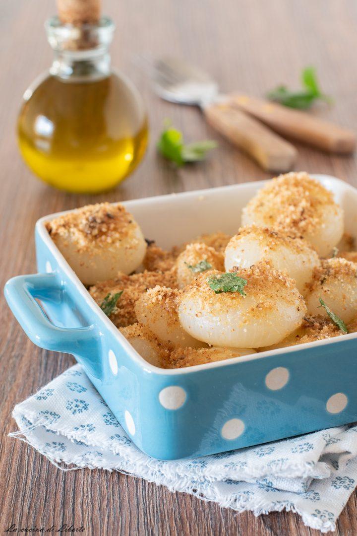Cipolle borettane gratinate al forno d