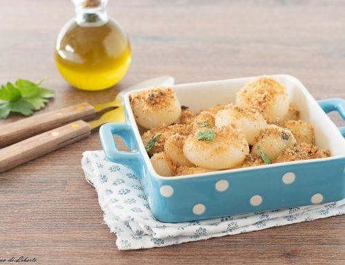 Cipolle borettane gratinate al forno