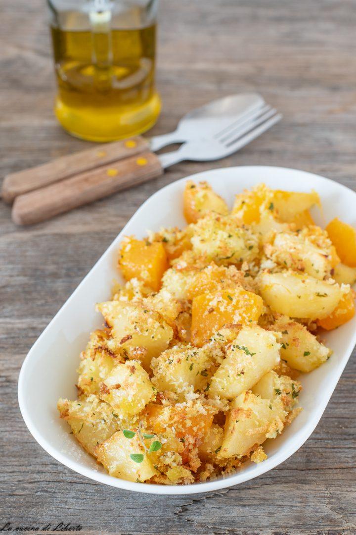 Zucca e patate gratinate al forno d