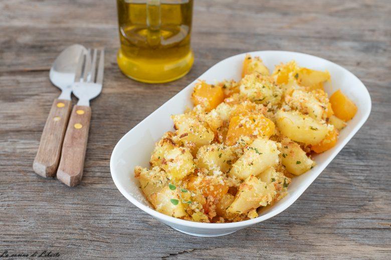 Zucca e patate gratinate al forno