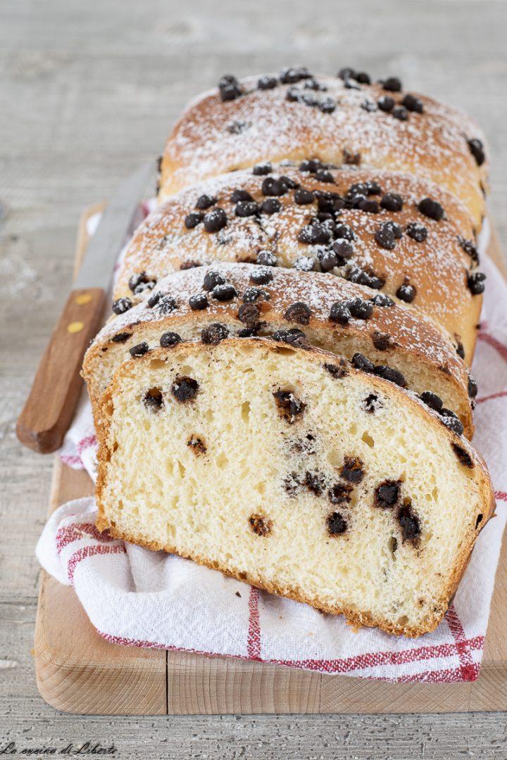 Pan brioche con gocce di cioccolato d