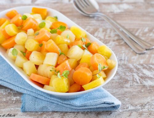 Insalata di carote bollite