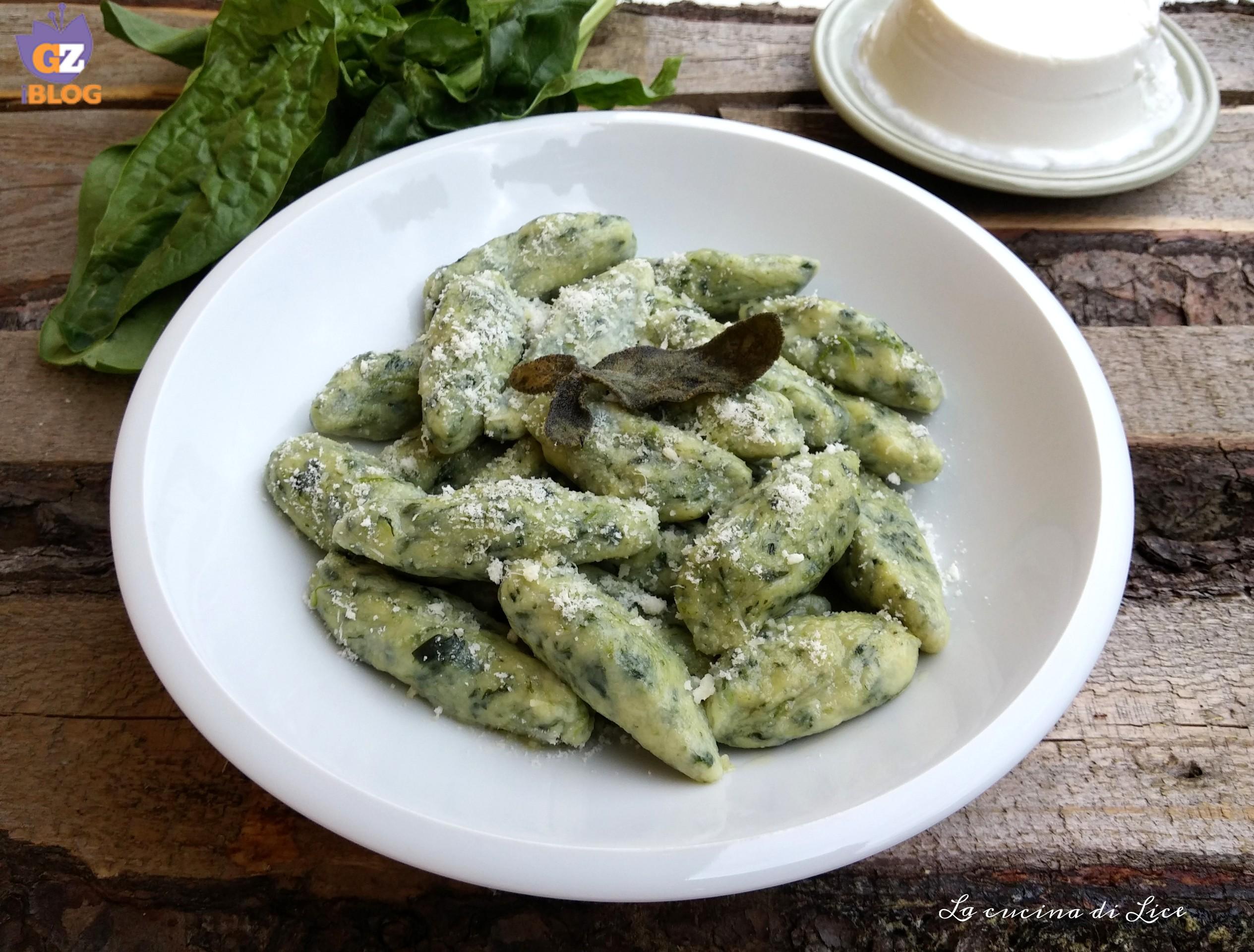 Pinlòn con ricotta e spinaci