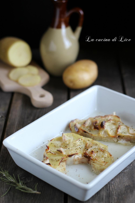 Tranci di verdesca con chips di patate