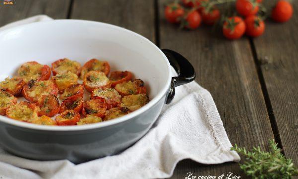 Pomodorini al timo gratinati