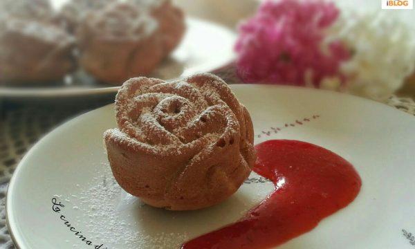 Roselline con salsa di fragole