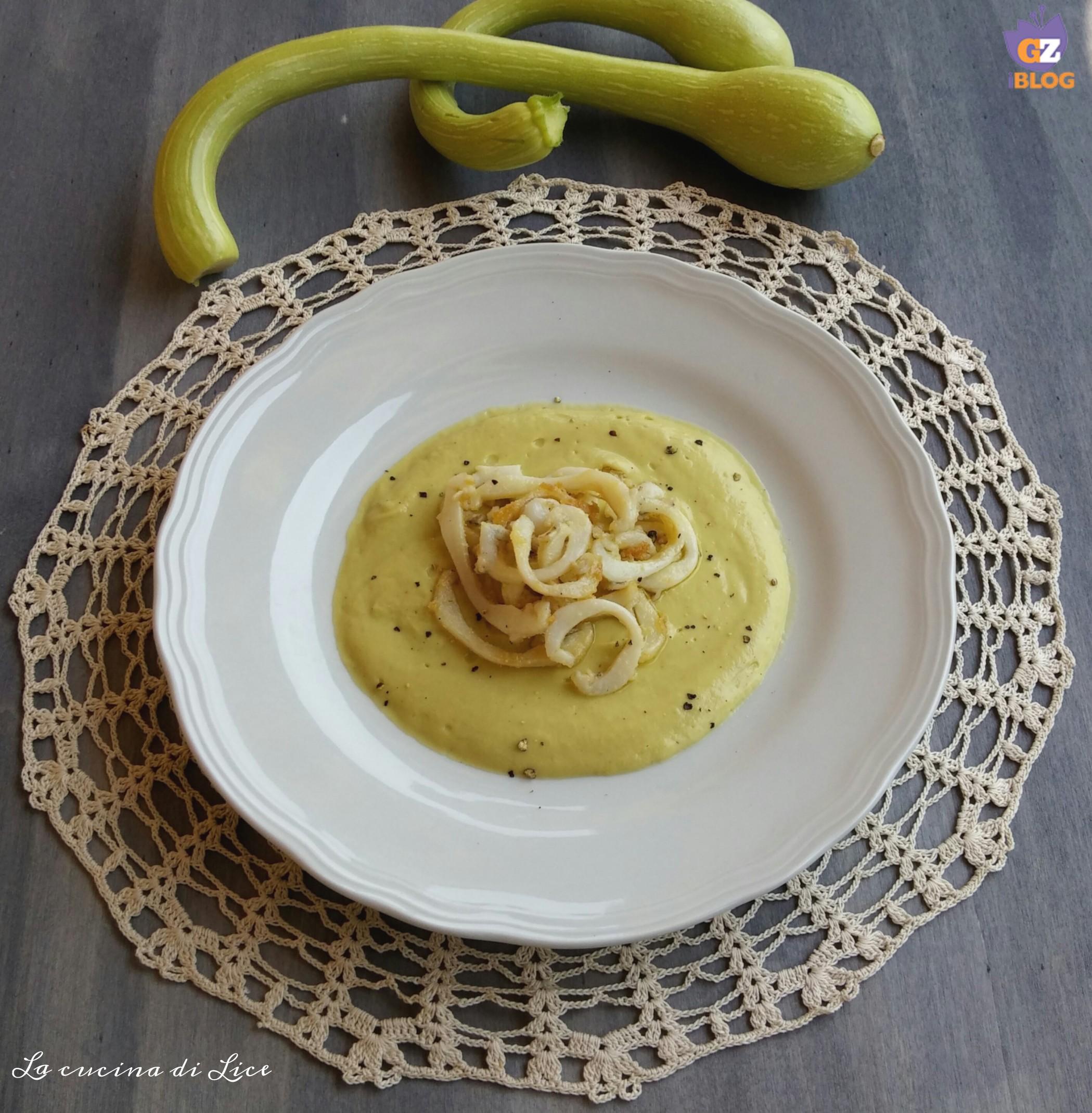 Anelli di calamari in padella for Cucinare zucchine trombetta