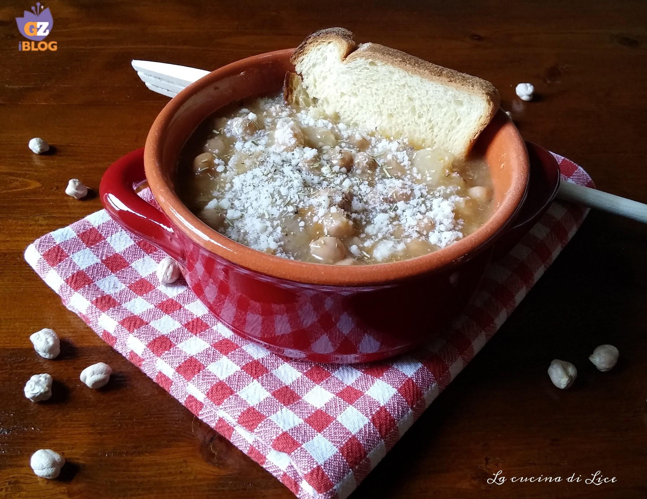 Zuppa di ceci e cotiche
