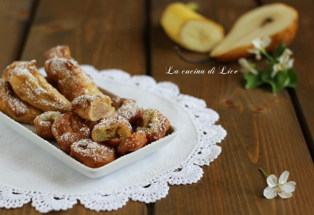 Pere e banane in pastella