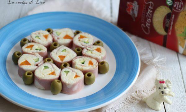 Sushi di mortadella con couscous e verdure