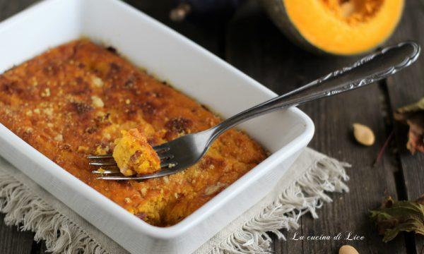 Sformato di zucca con pancetta e pecorino