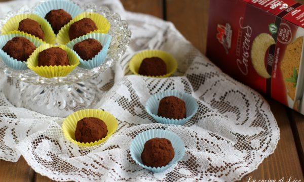 Tartufi di couscous con caffè e cioccolato