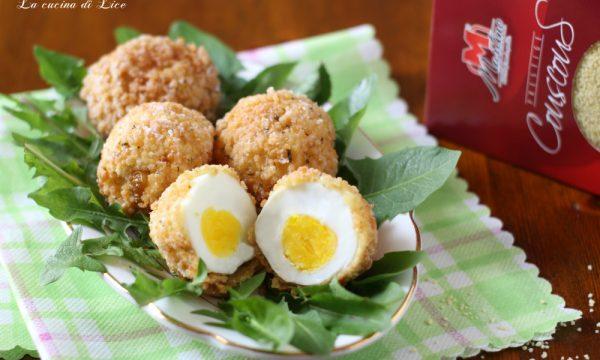 Uova croccanti in panatura di couscous