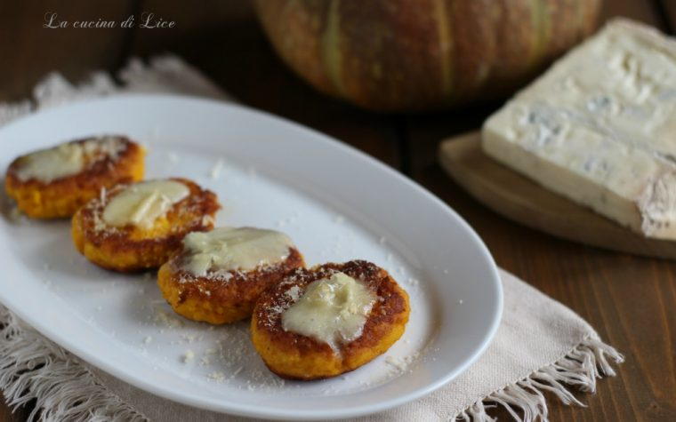Polpette di zucca con gorgonzola