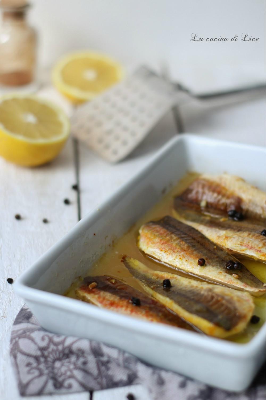 Filetti di gallinella al limone e zafferano