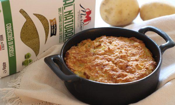 Sformato di couscous di piselli con patate e pecorino