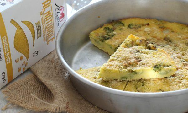 Torta di couscous di mais con broccoli e pecorino