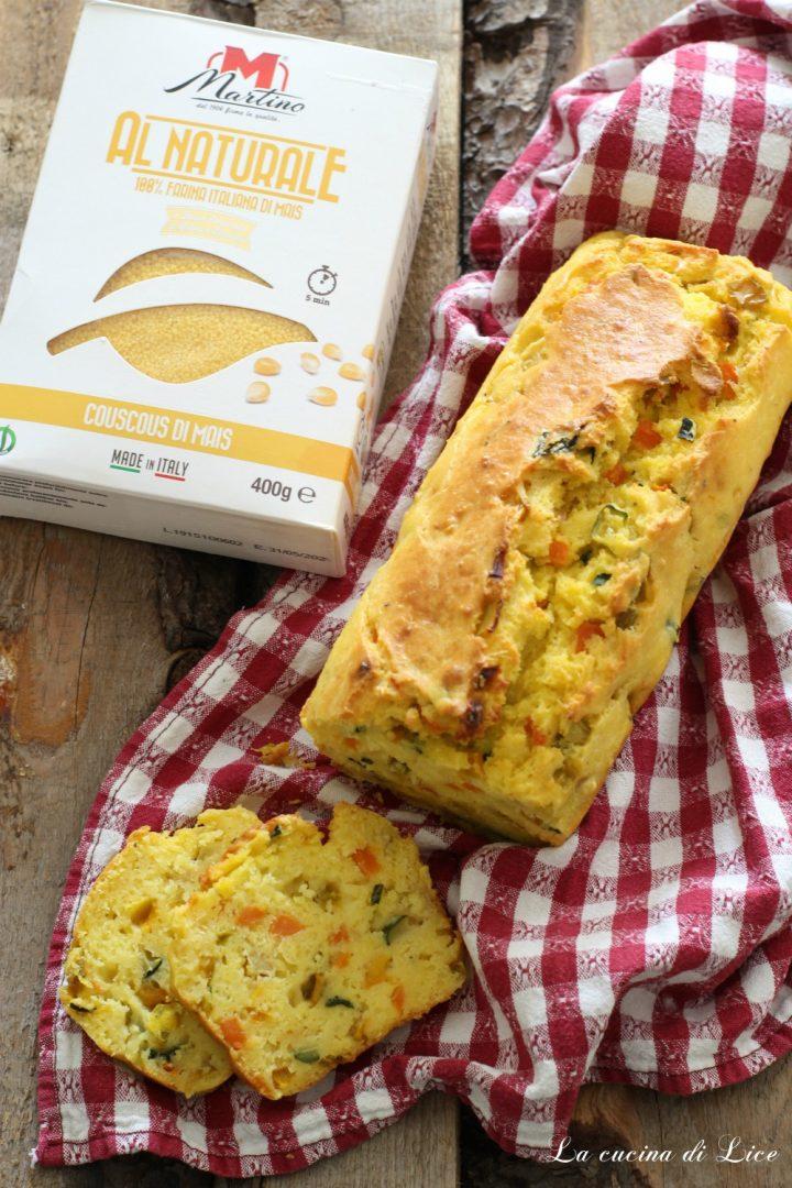Plumcake con couscous di mais e verdure
