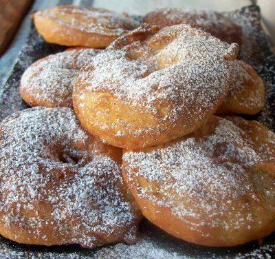 Anelli di mele in pastella