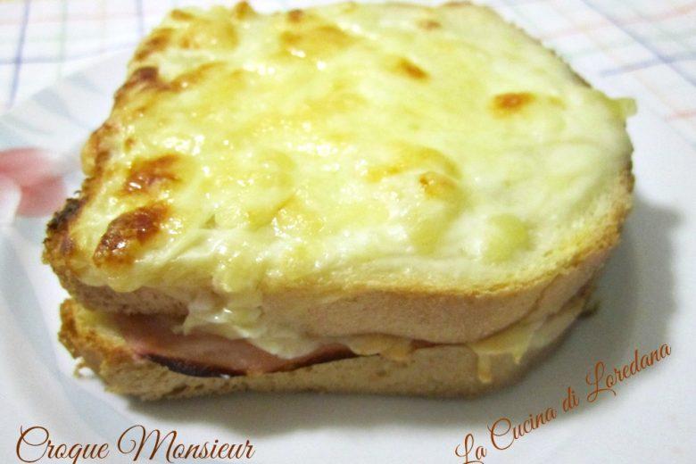 Sandwich alla francese o  Croque Monsieur