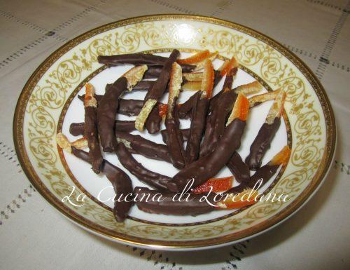 Scorzette di arancia candite con cioccolato