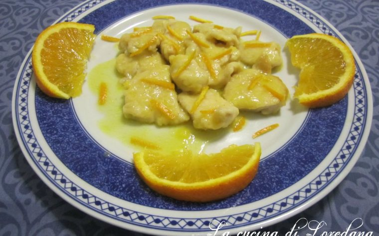 Bocconcini di pollo all'arancia