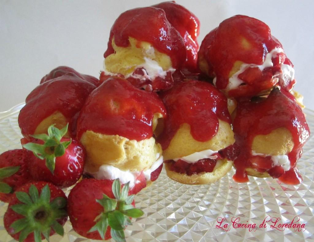 Profiteroles alle fragole - La cucina di Loredana