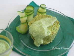 tortini di zucchine con salsa allo yogurt - La cucina di Loredana