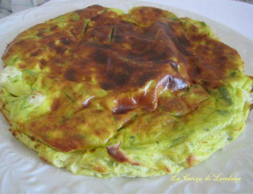 Frittata al forno con asparagi e ricotta