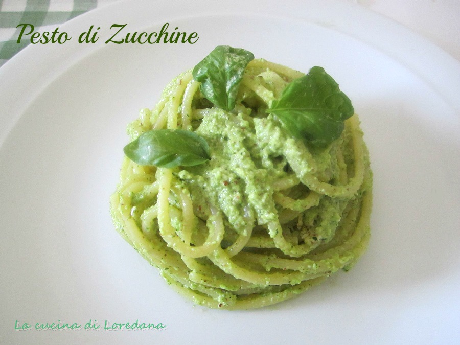 Spaghetti con pesto di zucchine - Loredana in cucina ...