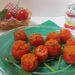 Pomodorini ripieni gratinati al forno