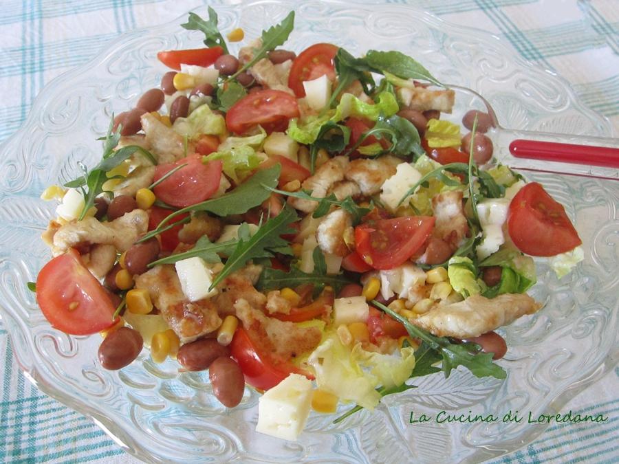 Insalata con pollo e verdure la cucina di loredana - Cucina con loredana ...