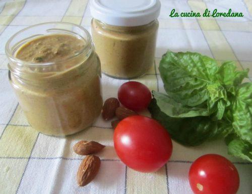 Pesto basilico mandorle e pomodori