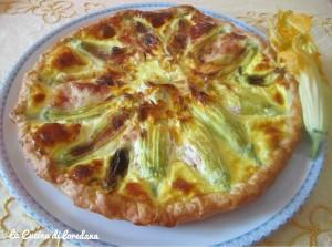 torta salat a con fiori di zucchina ripieni