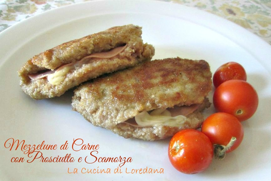 Mezzelune di carne con prosciutto e scamorza la cucina - La cucina di loredana ...
