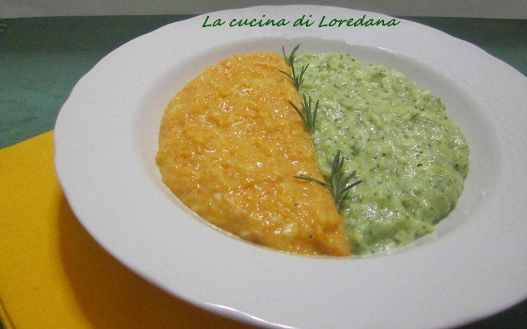 Crema di zucca e zucchine
